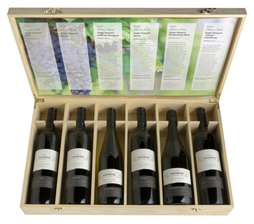 6 Bottle hinged lid