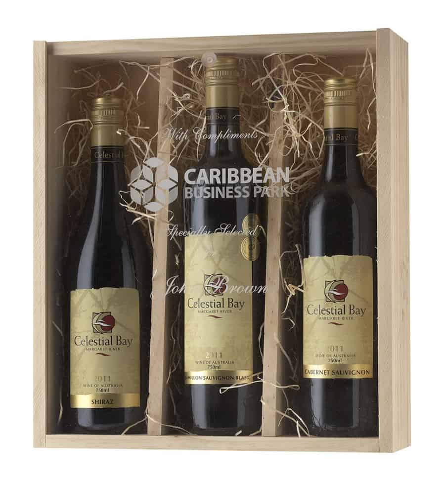 Triple timber wine box with acrylic lid for Timber wine box