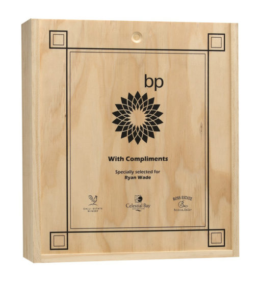 Triple Wooden Wine Box