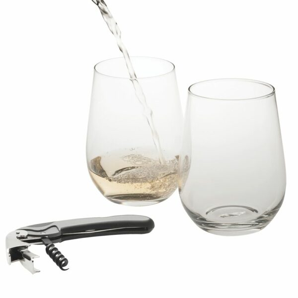 Stemless Wine Glass Set 2