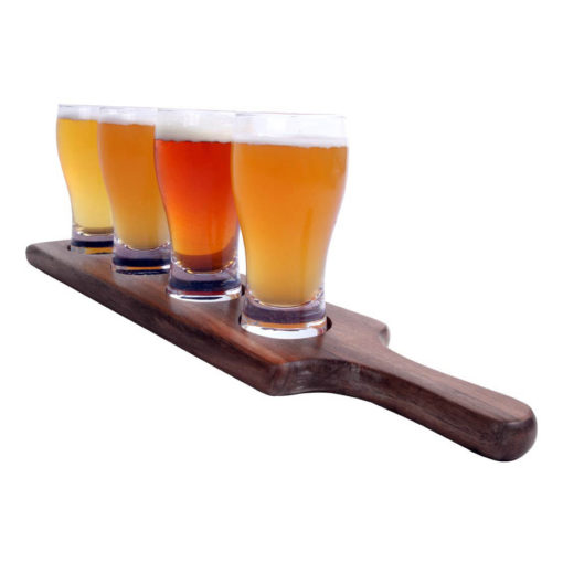 Beer Paddle with glasses
