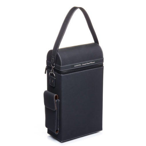 Doube suede wine carrier