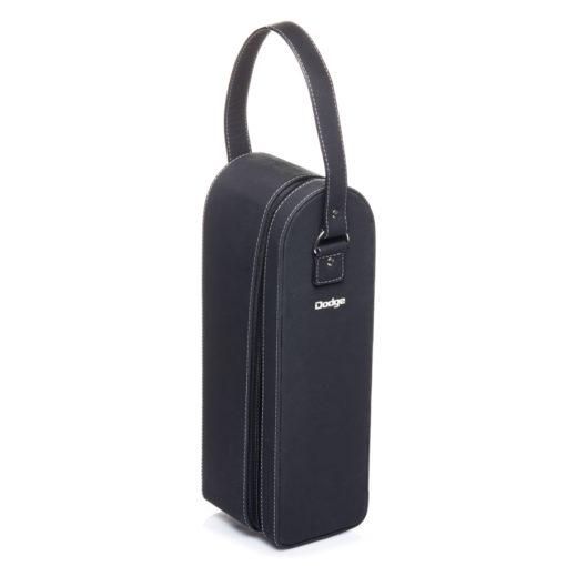 Single Fauz leather wine carrier