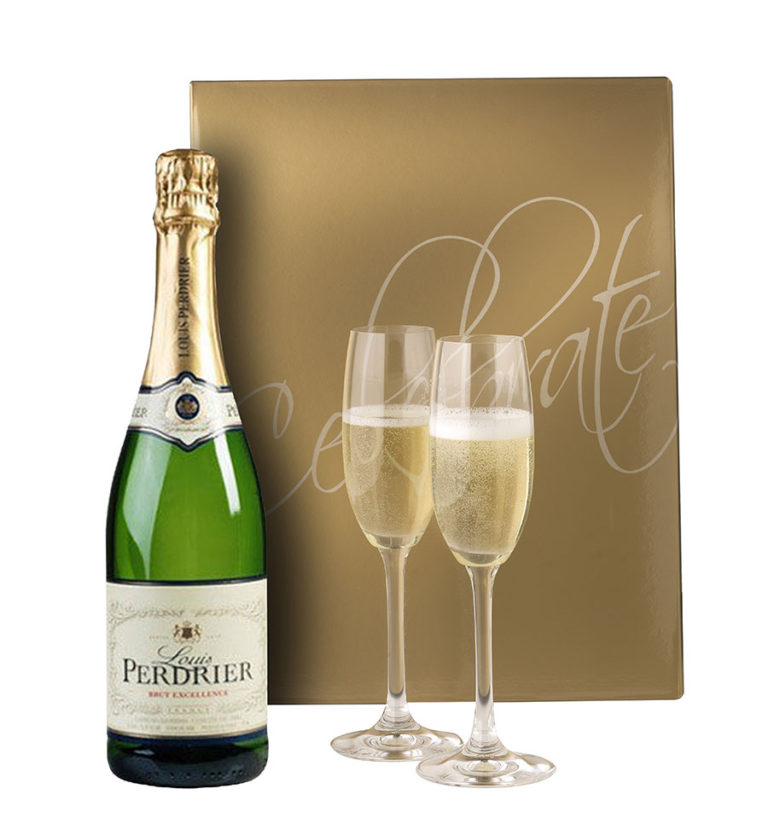 Louis-perdrier-brut-Celebrate GOLD with flutes