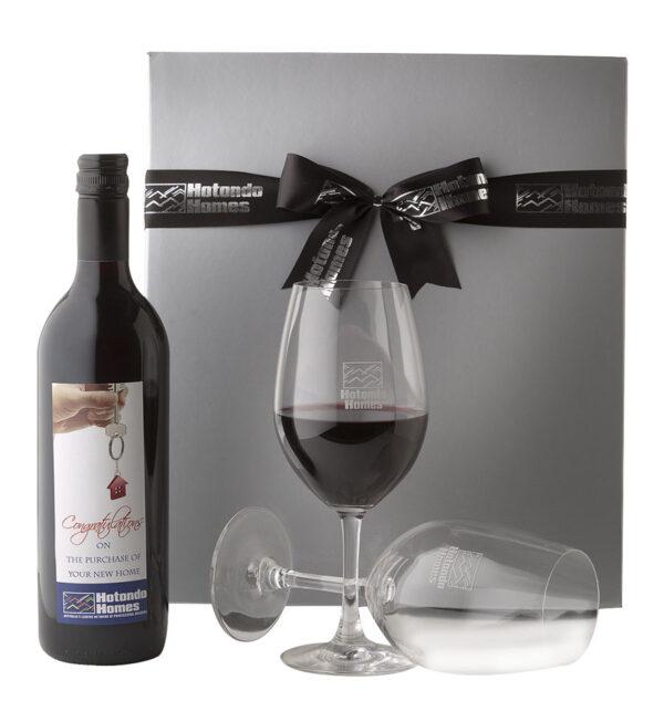 Custom Label Wine Presentation Set 1