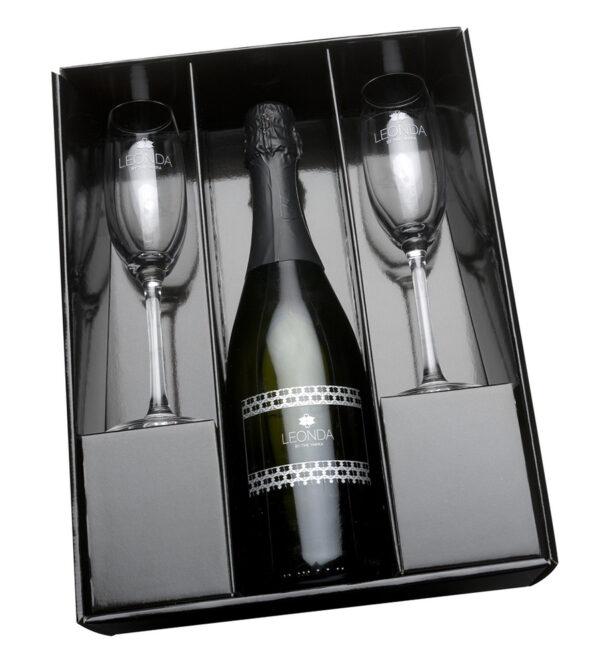 Printed Sparkling Wine Gift Set 1