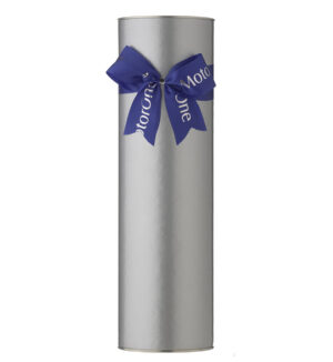 Wine Cylinder With Custom Satin Bow