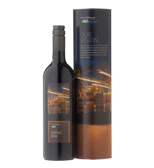 Custom Label Wine and Wine Tube 1