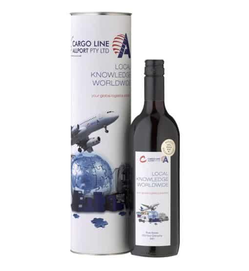Custom Label Wine and Wine Tube 2