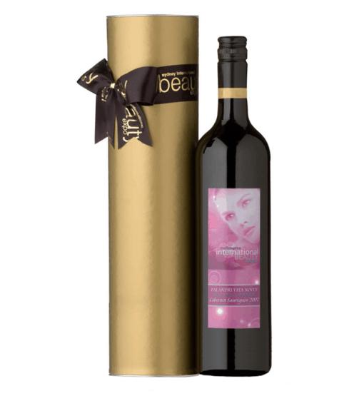 Custom Label Wine With Branded Ribbon 1