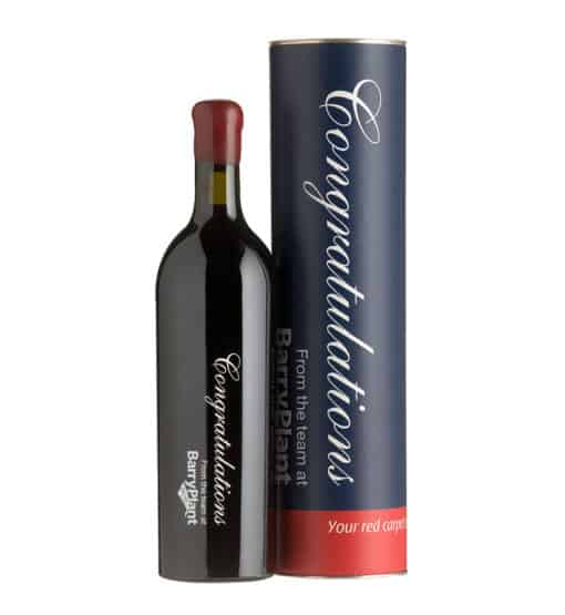 Printed Wine Bottle and Custom Cylinder 1