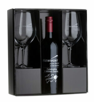 Printed Red Wine Gift Set