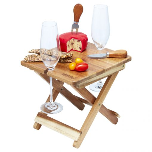 cheese & wine foldable table