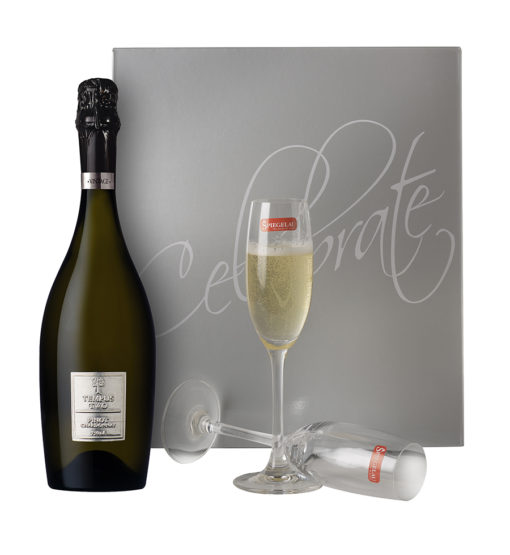 Tempus Two Pewter Pinot Chard_Silver Lid and flutes