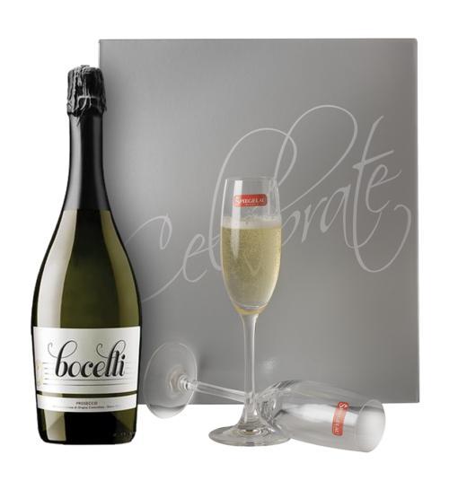 Bocelli Prosecco with Silver Celebrate Lid