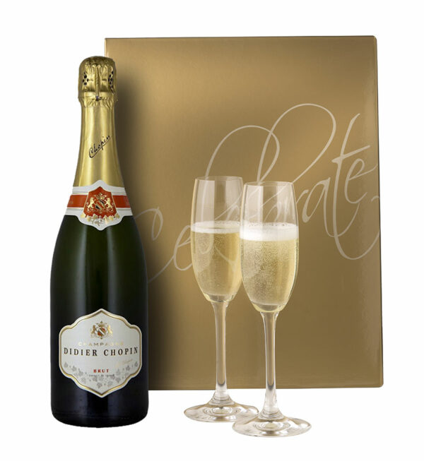 Didier Chopin Champagne & Riedel Flutes 1
