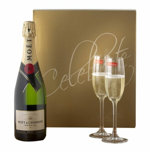 Celebrate Sparkling Gift Box With Champagne Flutes 2