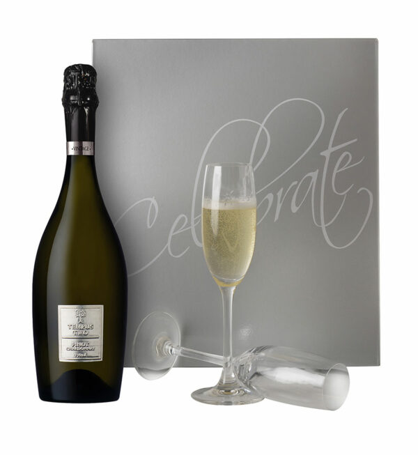 Celebrate Sparkling Gift Box With Champagne Flutes 1