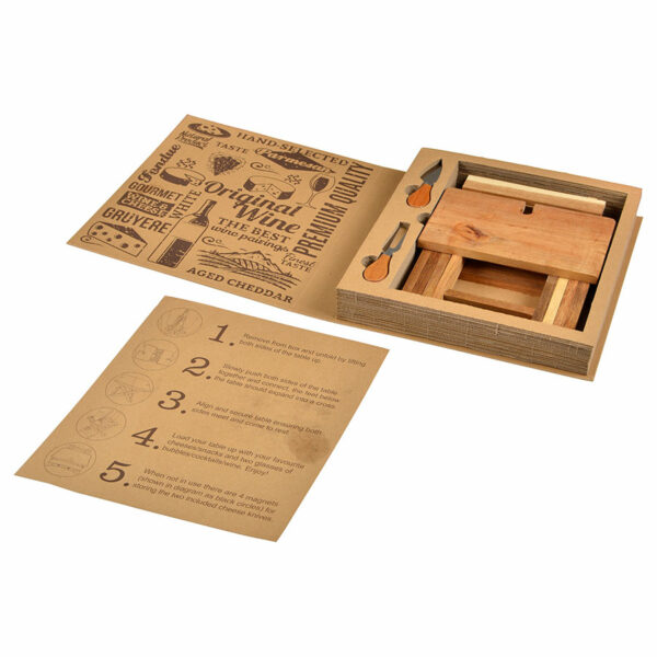Acacia Foldable Cheese & Wine Board 2