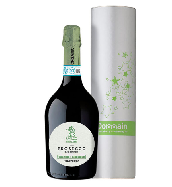 Proverbio Organic Prosecco with Custom Wine Tube 1