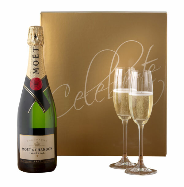 Moet & Chandon With Two Riedel Flutes 1