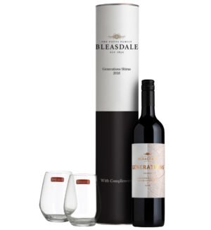 Bleasdale Generations Shiraz & Stemless Glasses